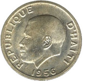 20 centimes(Président Paul Magloire) – avers