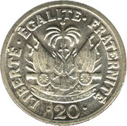 20 centimes(Président Paul Magloire) – revers