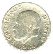 10 centimes (Président Paul Magloire) – avers