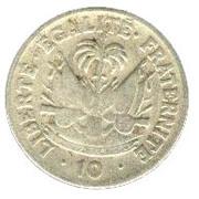 10 centimes (Président Paul Magloire) – revers