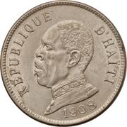 50 centimes (Président Nord Alexis) – avers