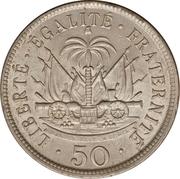 50 centimes (Président Nord Alexis) – revers