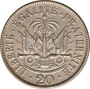 20 centimes (Président Nord Alexis) – revers
