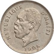5 centimes (Président Nord Alexis) – avers