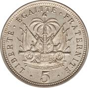 5 centimes (Président Nord Alexis) – revers