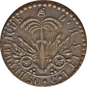 50 centimes (République) – revers