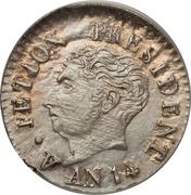 12 centimes - petite tête (République de l'Ouest) – avers