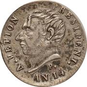 25 centimes (République de l'Ouest) – avers