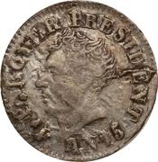 6 centimes (République de l'Ouest) – avers