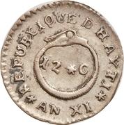 12 centimes (République de l'Ouest) – revers