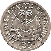 20 centimes (Président François Duvalier) – revers