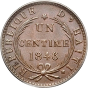 1 centime – revers
