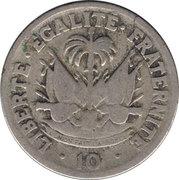 10 centimes (Président Estimé Dumarsais) -  revers