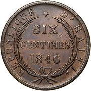 6 centimes – revers