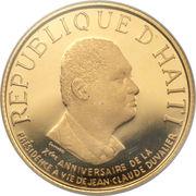 1000 Gourdes - 10ème anniversaire de la présidence à vie de Jean-Claude Duvalier – avers