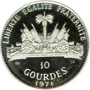 10 gourdes (Oglala Sioux Chief Red Cloud) – revers