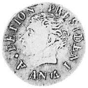 12 centimes - grande tête (République de l'Ouest) – avers