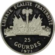 25 gourdes (Aéroport international François Duvalier) – revers