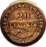 20 Centimes (Essai) – revers
