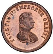 6 centimes - Faustin I (Essai) – avers