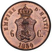 6 centimes - Faustin I (Essai) – revers