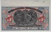1919 Haiti 5 Gourdes – avers