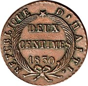 2 centimes – revers