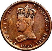 6¼ centimes - Faustin I – avers