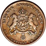 6¼ centimes - Faustin I – revers