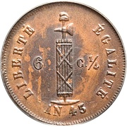 6¼ centimes – avers