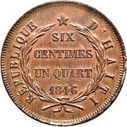 6¼ centimes – revers