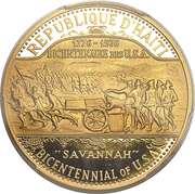 1000 Gourdes - Bicentenaire des États-Unis – avers