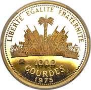1000 Gourdes - Bicentenaire des États-Unis – revers
