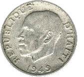 5 centimes (Président Dumarsais) – avers