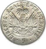 5 centimes (Président Dumarsais) – revers