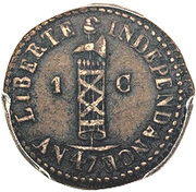 1 centime - Faustin I – avers