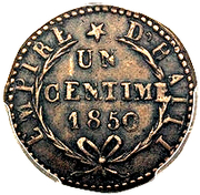 1 centime - Faustin I – revers