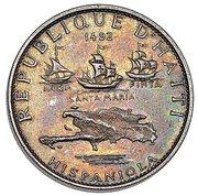 5 Gourdes (Columbus Discovers America; Piedfort Essai) – avers