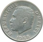 10 centimes (Président F. Duvalier) – avers