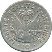 10 centimes (Président F. Duvalier) – revers