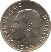 5 centimes - Président Magloire – avers