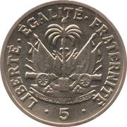 5 centimes - Président Magloire – revers