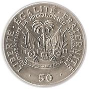 50 centimes FAO – revers