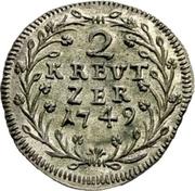 2 kreuzer - Thomas III – revers