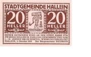 20 Heller (Hallwang) – avers