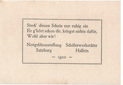 20 Heller (Hallein) – revers