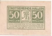 50 Heller (Hallein) – avers