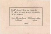 50 Heller (Hallein) – revers