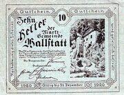 10 Heller (Hallstatt) -  avers
