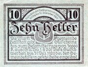 10 Heller (Hallstatt) -  revers